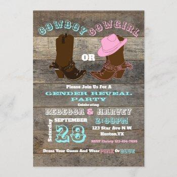 Western Cowboy Or Cowgirl Gender Reveal Party