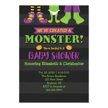 We've Created A Monster! Halloween Baby Shower Invitation