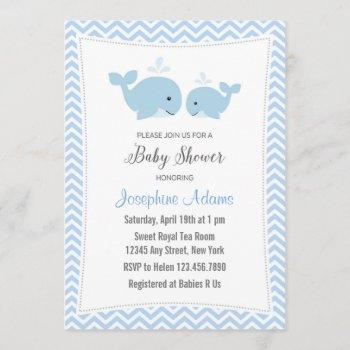 Whale Baby Shower  Blue