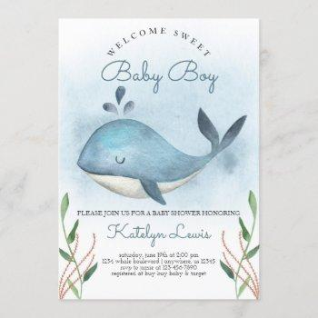 Whale Baby Shower  For Baby Boy