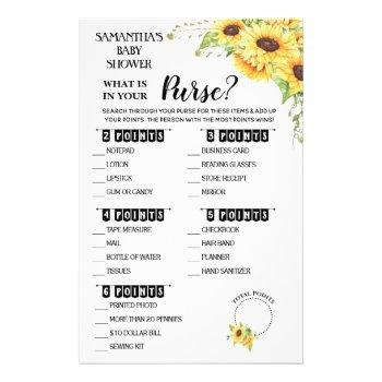 What Is In Your Purse Shower Bilingual Game Card