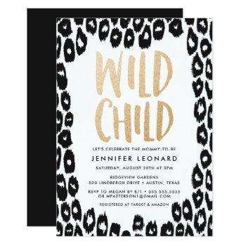 Wild Child | Baby Shower Invitation
