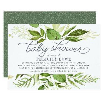 Wild Meadow Baby Shower Invitation