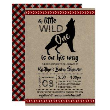 Wild One Boys Baby Shower Invitation