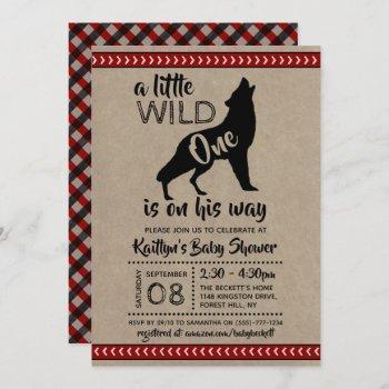 Wild One Boys Baby Shower Invitation