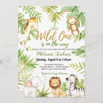 Wild One Jungle Animals Boy Baby Shower