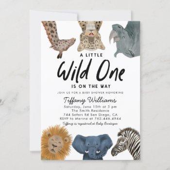 Wild One Safari Animals Boy Baby Shower