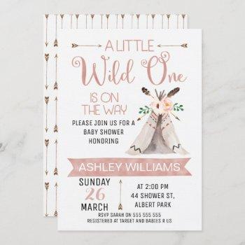 Wild One Watercolor Baby Shower