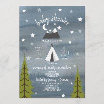 Wilderness Stars Neutral Baby Shower Invitation