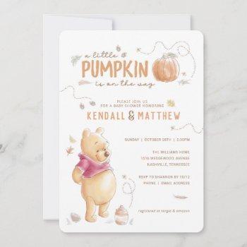 Winnie The Pooh Fall Harvest Pumpkin Baby Shower