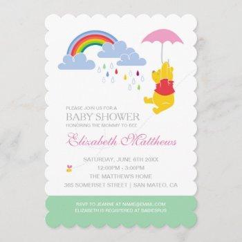 Winnie The Pooh | Girl Baby Shower Invitation