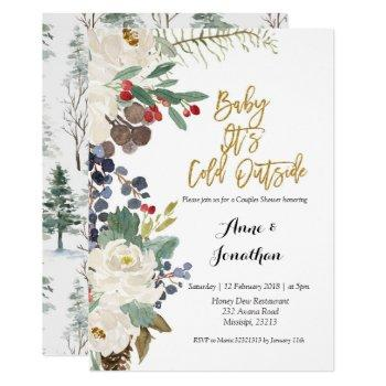 Winter Baby Its Cold Outside Couple Shower Invite