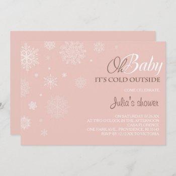 Winter Baby Shower  - Blush Pink