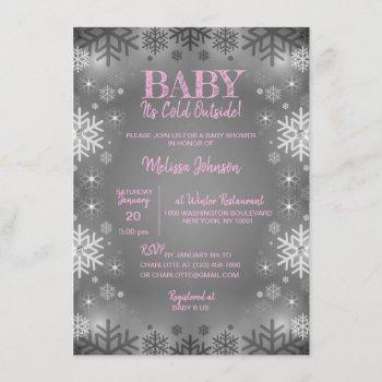 Winter Baby Shower It's Cold Outside Snowflakes