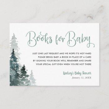 Winter Forest Baby Shower Book Request Card