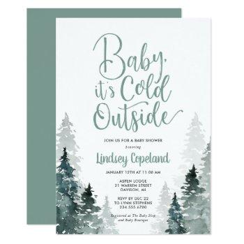 Winter Forest Baby Shower Invitation