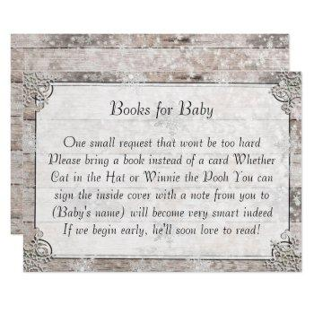Winter Style Baby Shower Books For Baby Card