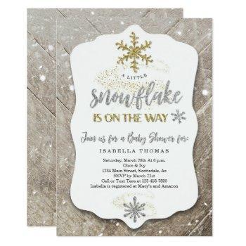 Winter Wonderland Gender Neutral Baby Shower Invitation