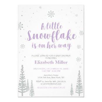 Winter Wonderland, Girl Baby Shower/baby Sprinkle Invitation
