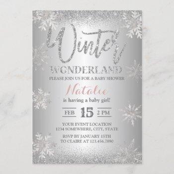 Winter Wonderland Silver Snowflakes Baby Shower