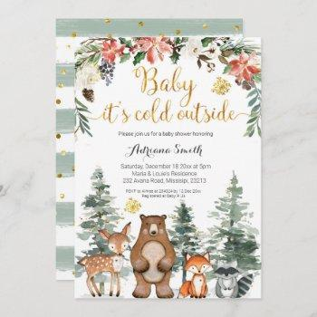 Winter Woodland Baby Its Cold Outside Baby Shower