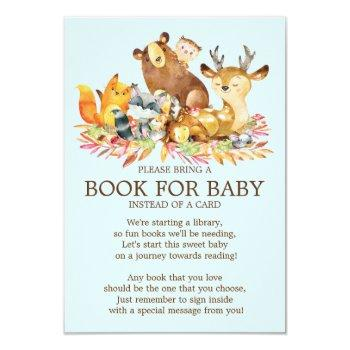 Woodland Animals Baby Shower Book For Baby Invitation