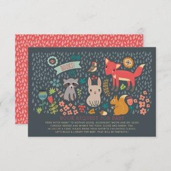 Woodland Animals Baby Shower Book Request
