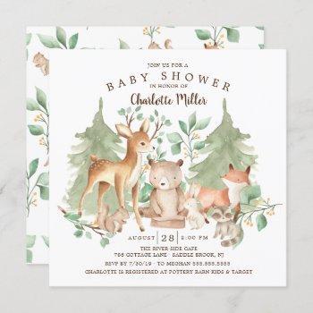 Woodland Animals Baby Shower