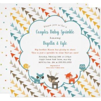 Woodland Animals Couples Baby Sprinkle Invitation