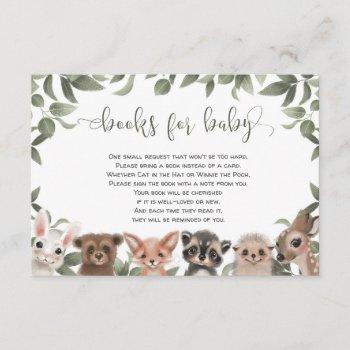 Woodland Animals Forest Friends Books For Baby Enclosure Card