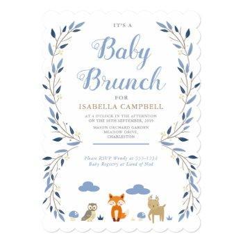 Woodland Baby Brunch Invitation