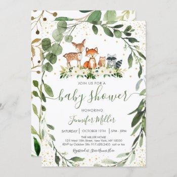 Woodland Baby Shower Greenery Forest Animal