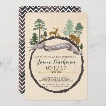 Woodland Baby Shower Invite