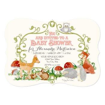 Woodland Fairy Tale Baby Shower Invitations Cards