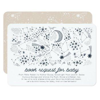 Written In The Stars Couples' Baby Book Request Invitation