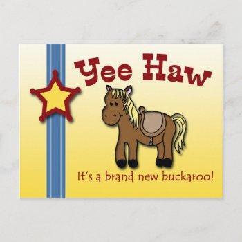 Yee Haw! Western Themed Baby Shower Invite