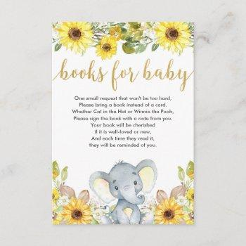 Yellow Elephant Gender Neutral Books For Baby Enclosure Card