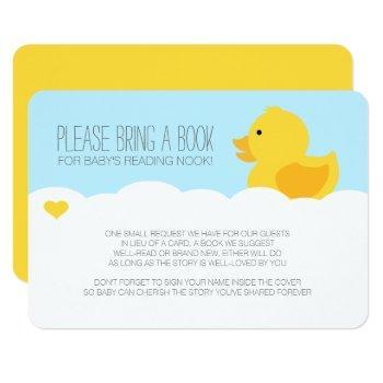 Yellow Rubber Ducky Bubble Bath Baby Shower Invitation