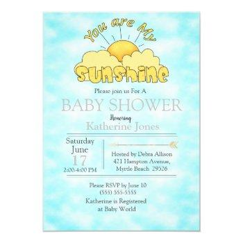 You Are My Sunshine Baby Nuetral Shower Invitation